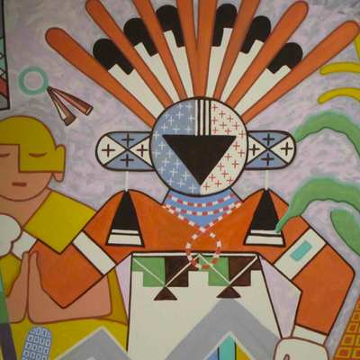 A Katsina depicted in a mural at the Museum of Northern Arizona.