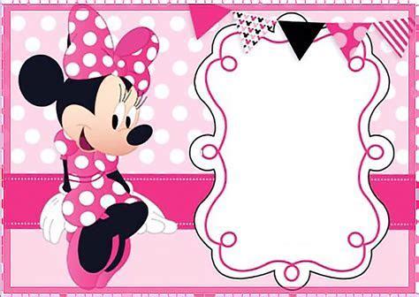 Blank Minnie Mouse Birthday Invitations Templates