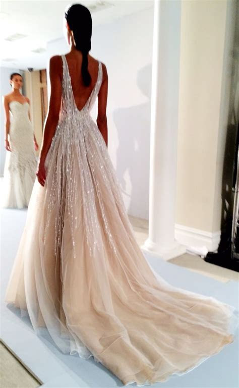 stunning low back sparkling gown   Best Wedding Dresses