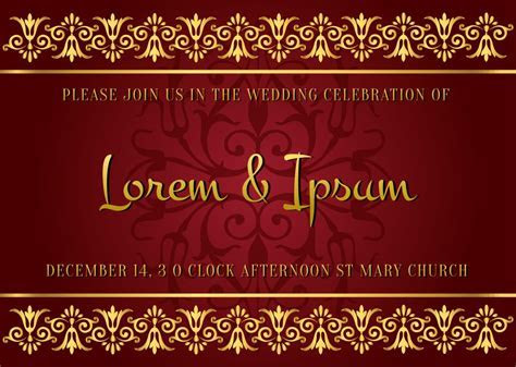 Indian Style Wedding Card   Download Free Vector Art
