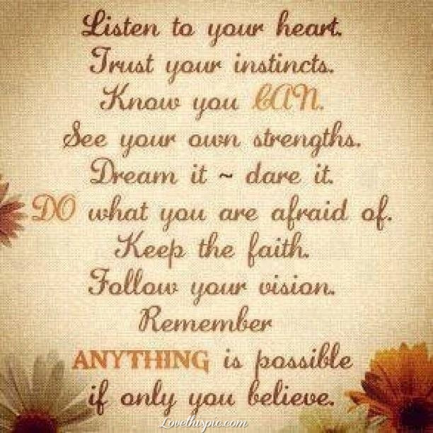 Listen To Your Heart Pictures Photos And Images For Facebook