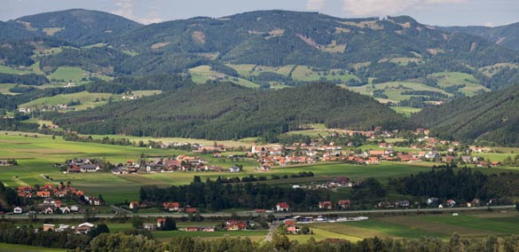 The town of Knittelfeld in the southern Austrian state of Styria. (Credit: David Bauer/Wikimedia Commons)