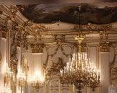 Vienna Summer Palace 8x10 Fine Art Print - affordable home decor - Gold Chandelier - rebeccaplotnick