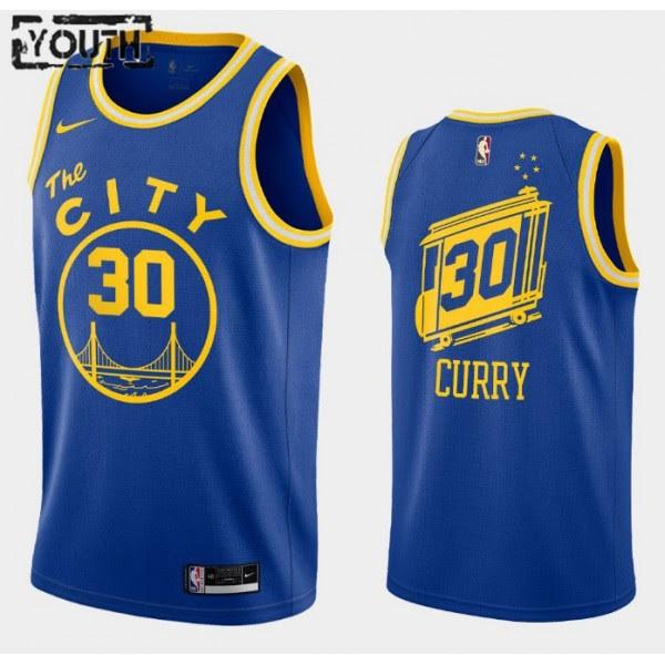 Golden State Warriors Trikot Stephen Curry 30 2020-2021 Nike Hardwood Classics Swingman - Kinder