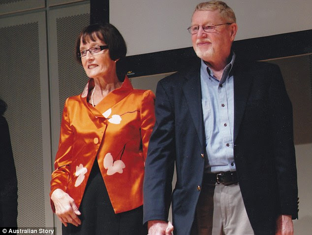 Three years after her diagnosis, she fell in love and married Paul Bryden (right), who continues to support and encourage her to this day