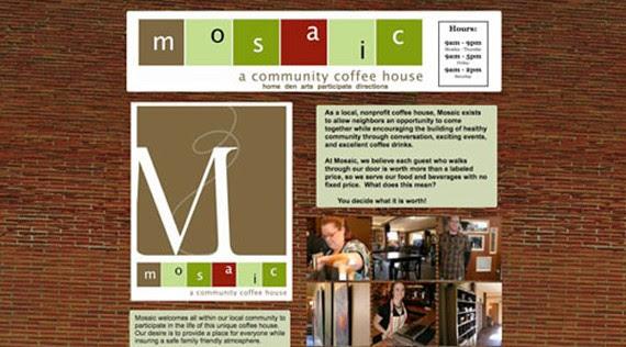 mosaic coffee website 30 Sitios web sobre café para inspirarte