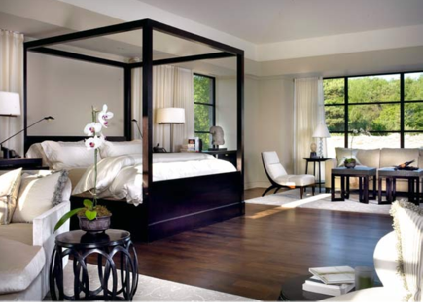Lacquered Canopy Bed - Transitional - bedroom - Tom Stringer