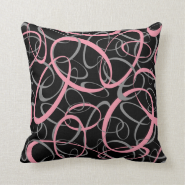 Abstract Retro Shapes Pattern Throw Pillow
