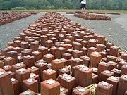 Monument at Westerbork: Each single stone represents a single person that had stayed at Westerbork and died in a Nazi camp
