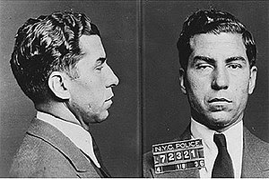Mugshot of Charles Luciano at 1936,Italian-Ame...