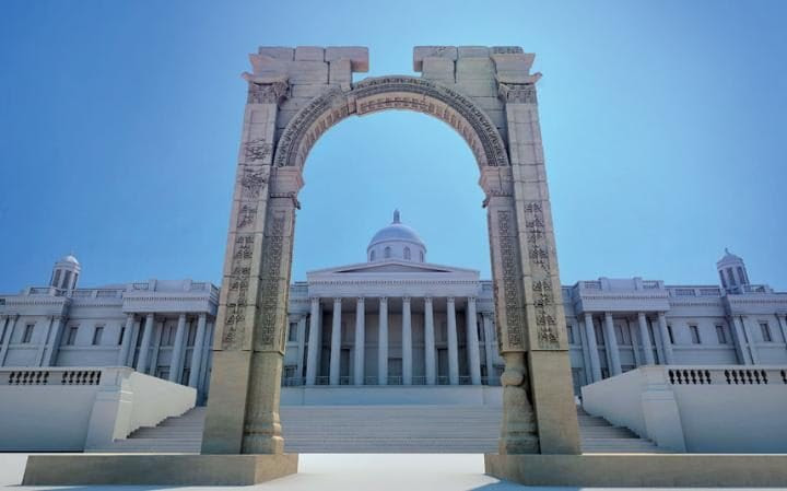 Artist's impression: How the Arch of Triumph will look in Trafalgar Square, London