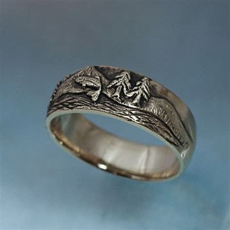 TROUT FISHING Ring in sterling silver   Mountain Fly