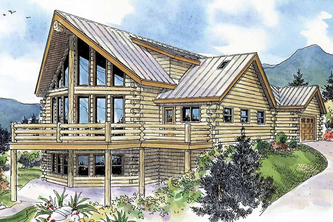 modern house plans with rear view
