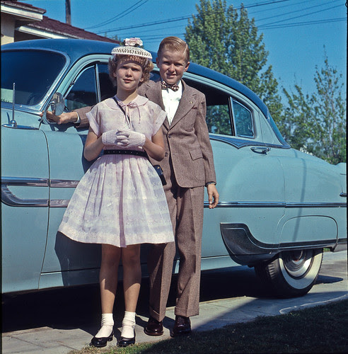 Ready for church at 4690 E White Fresno circa 1956