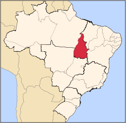 Localização do Tocantins no Brasil