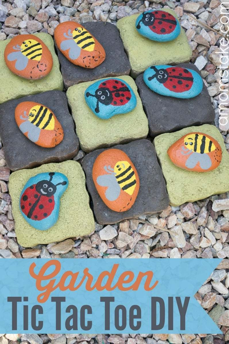 DIY Garden Tic Tac Toe Game
