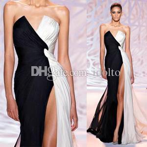 Black and white elegant evening dresses