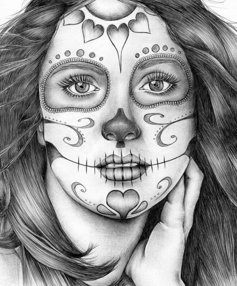 Sugar Skull Drawing Women