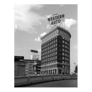 Western Auto Half Cylinder Building Postcard