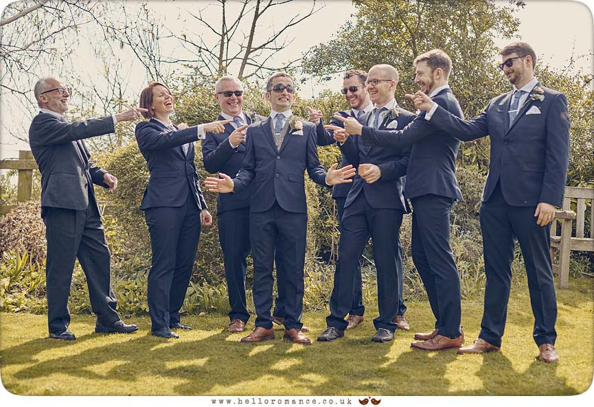 Fun ushers photo at Suffolk wedding, Westleton Crown - www.helloromance.co.uk
