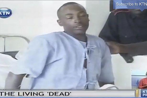 Living dead: KTN Kenya report said staff were left shocked after discovering Paul Mutora was still alive