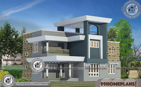 modern indian home design front view  double story
