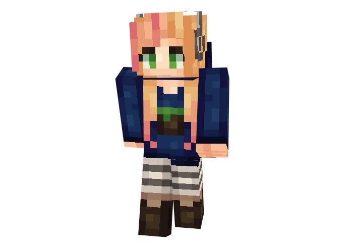 Gamer Girl Skin | Minecraft Skins Download ...
