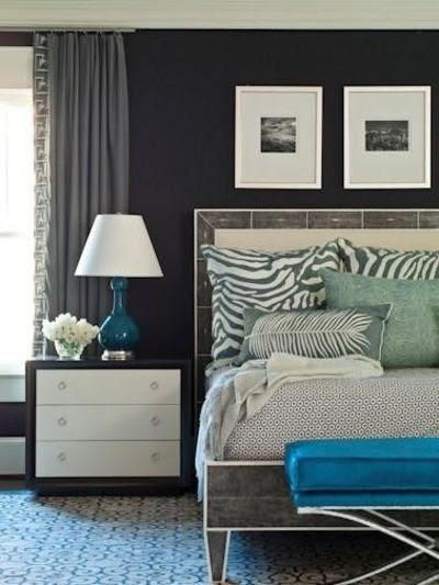 navy, white, and turquoise room / For the bedroom - Juxtapost