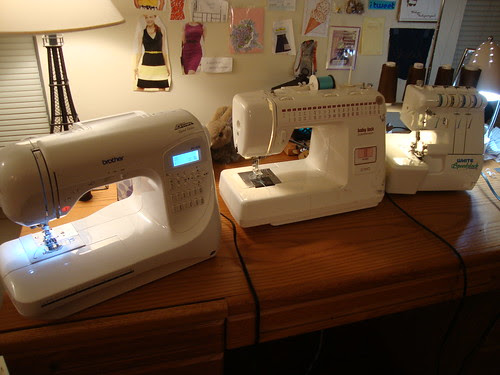 My fleet of sewing machines