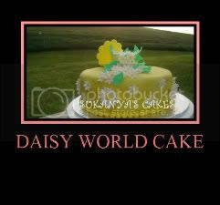 Fondant Covered Cake - Daisy World Cake