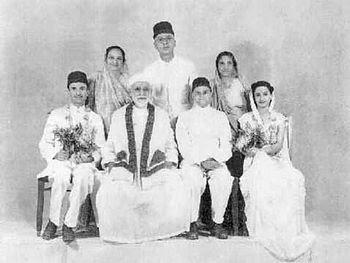 A Parsi wedding portrait, 1948