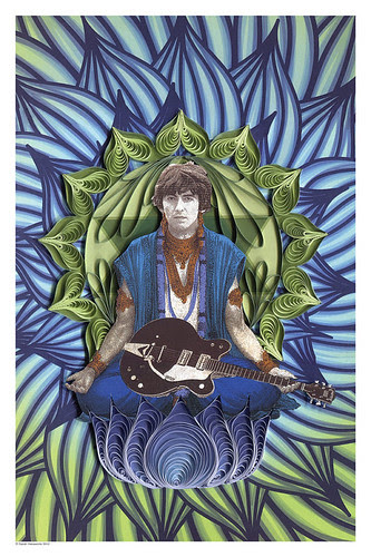 george-harrison-quilled-poster