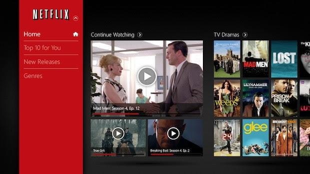 Netflix para Windows 8 (Foto: Divulgação)