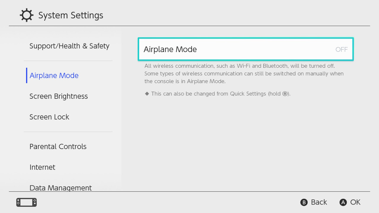 Nintendo Support How To Turn Airplane Mode On Off