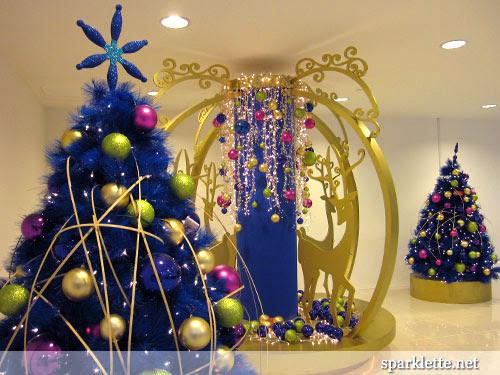 Christmas decor at West Coast Plaza