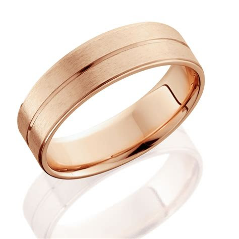 rose gold mens brushed flat wedding band mm ebay