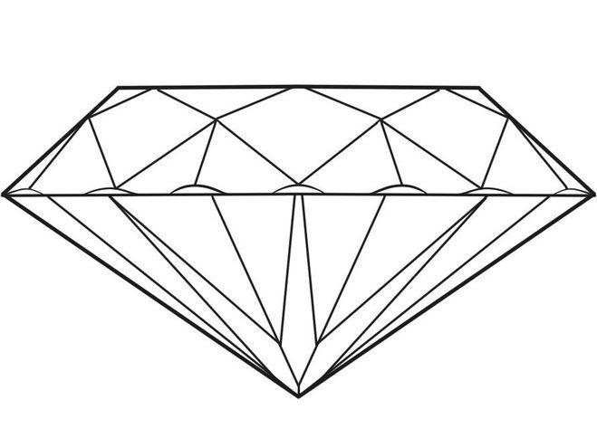 Dibujo Para Colorear De Un Diamante