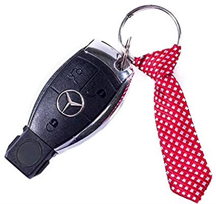 Miniature Red Tie Key Chain - Cool Keychain for Guys - Mens Keychain - Keychain for Him - Gift for Men