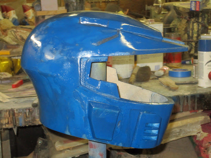 Caboose Helmet test paint 1
