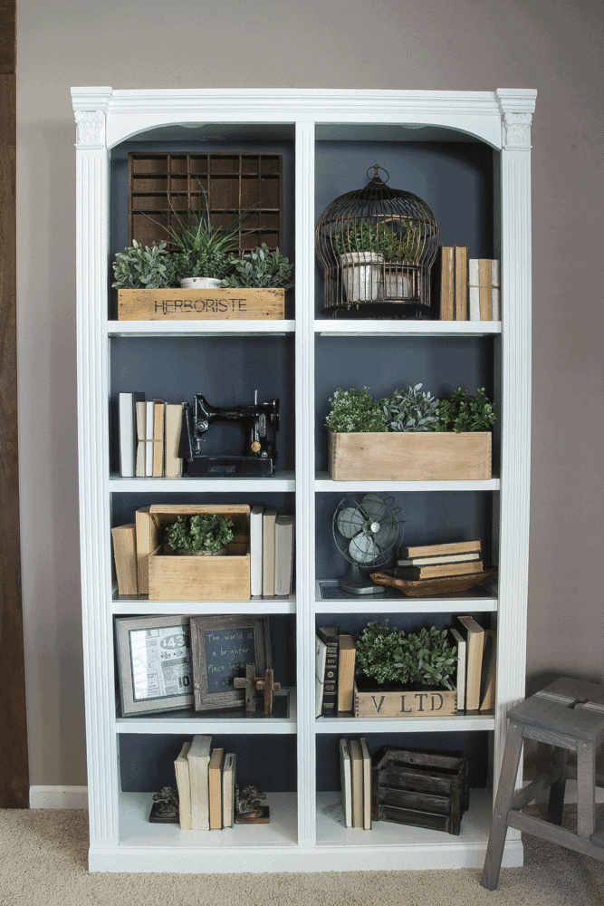 DIY Reclaimed Crates + Bookcase Makeover | blesserhouse.com