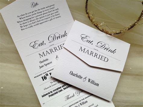 Vintage Tri Fold Wedding Invitations   Wedding Invites