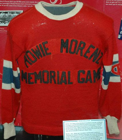 Morenz Memorial Game Canadiens Jersey