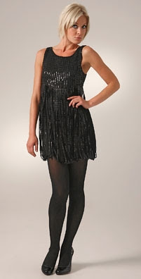 Alice + Olivia Sequin Strap Dress