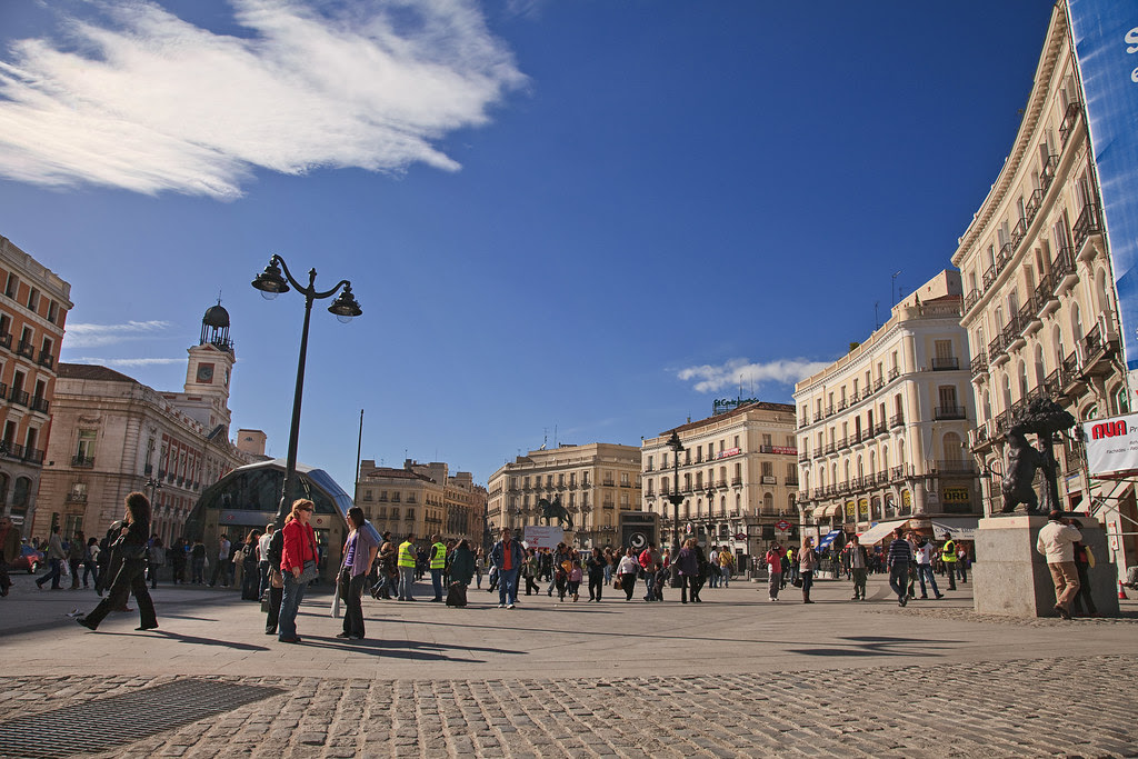 Madrid. Puerta del Sol square. Spain