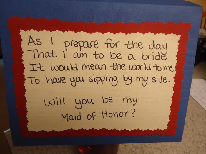 Come Fly With Us Maid Of Honor Craft Asking With A Bottle Of Wine