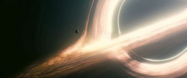 An unnamed world orbits a huge black hole known as Gargantua in INTERSTELLAR.