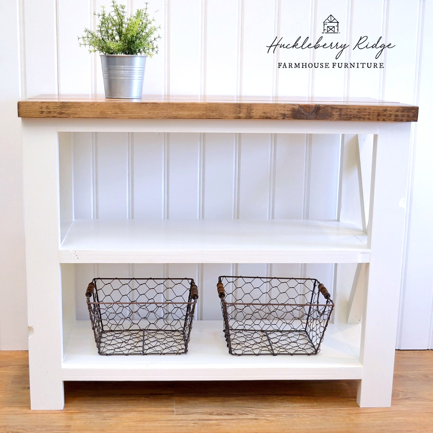 Farmhouse X Console Table