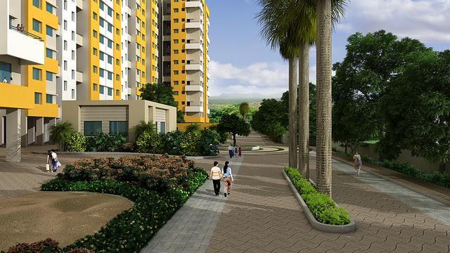 Wide Internal roads and open spaces in Vastushodh's UrbanGram - How is Vastushodh's UrbanGram at Kondhawe Dhawade, near Warje, in Pune 411 023?