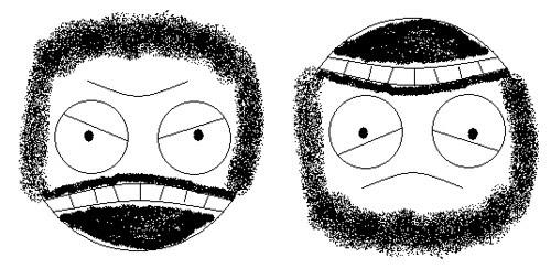 Angry Biker or Sad Rabbi illusion
