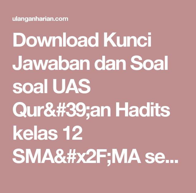 Kunci Jawaban Buku Detik Detik Unbk Bahasa Indonesia Smp…